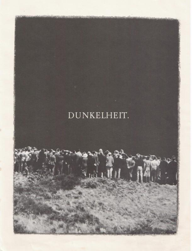 Dunkelheit. / Darkness.