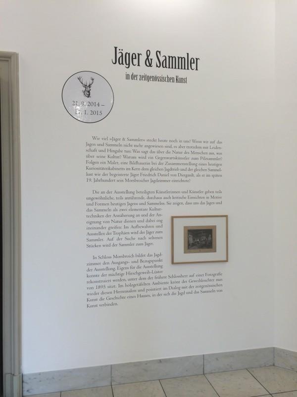 Jäger und Sammler in der zeitgenössischen Kunst - Infotafel