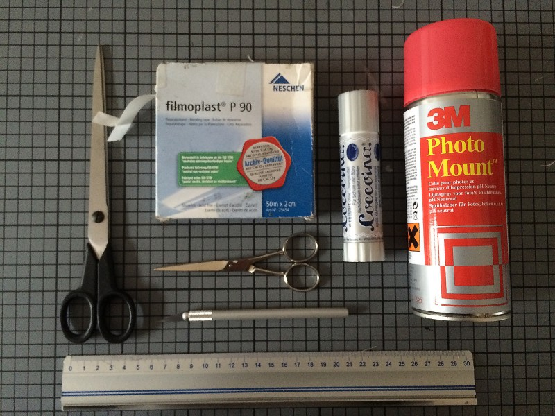 Mein Arbeitsmaterial / My tools