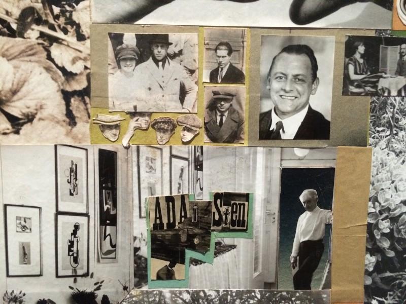 Hannah Hoech Lebensbild 1972 - 1973 - Detail mit Kurt Schwitters