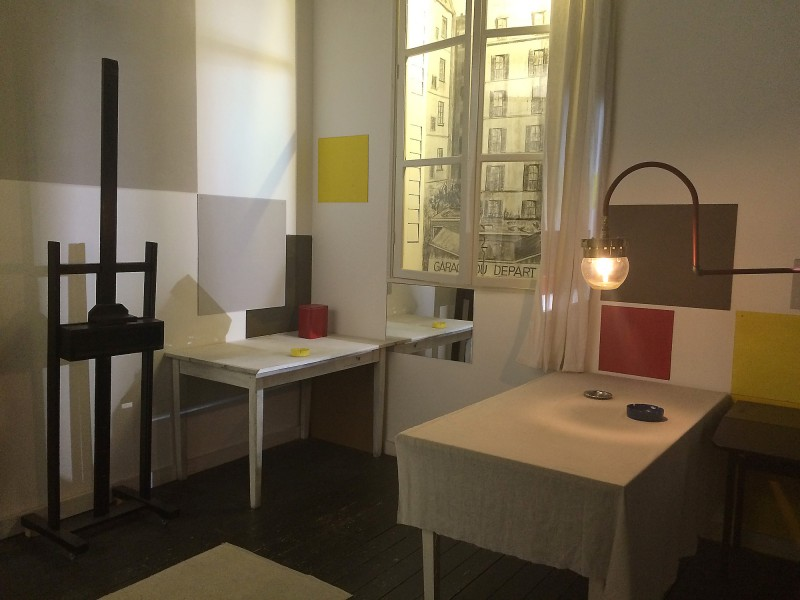 Mondrians Atelier in Paris - Nachbau im Geburtshaus Amersfoort - Mondrian´s studio in Paris, reconstructed in his birthplace