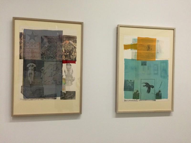 Robert Rauschenberg links Back out (Rueckzieher) 1979 - rechts Why you can´t tell, I (Warum kannst Du nicht sagen, ich) 1979