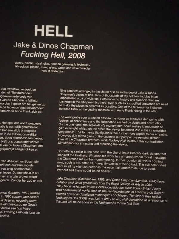 Hell -Jake and Dinos Chapman Fucking Hell 2008 Infotafel