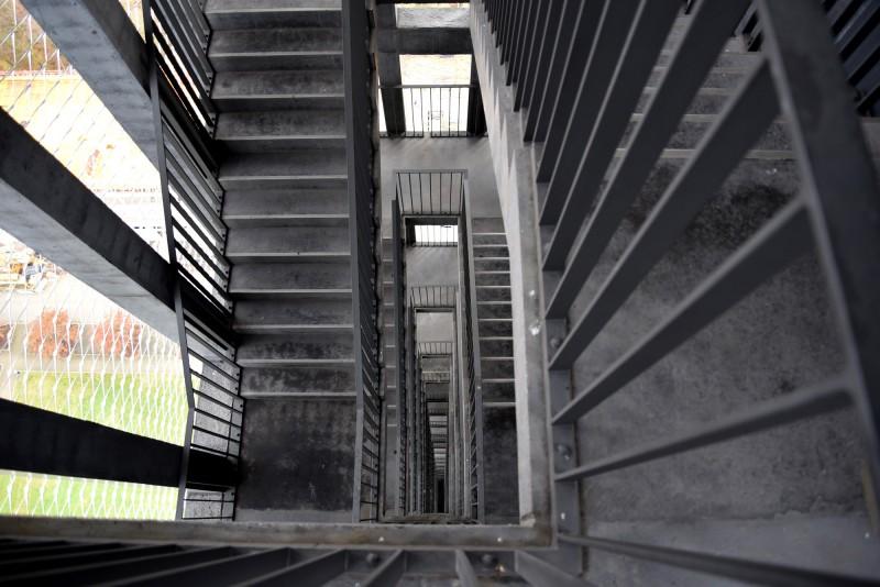 Das Treppenhaus im Nordsternturm Gelsenkirchen (Foto: Anne Eleftheria Rigopoulos)