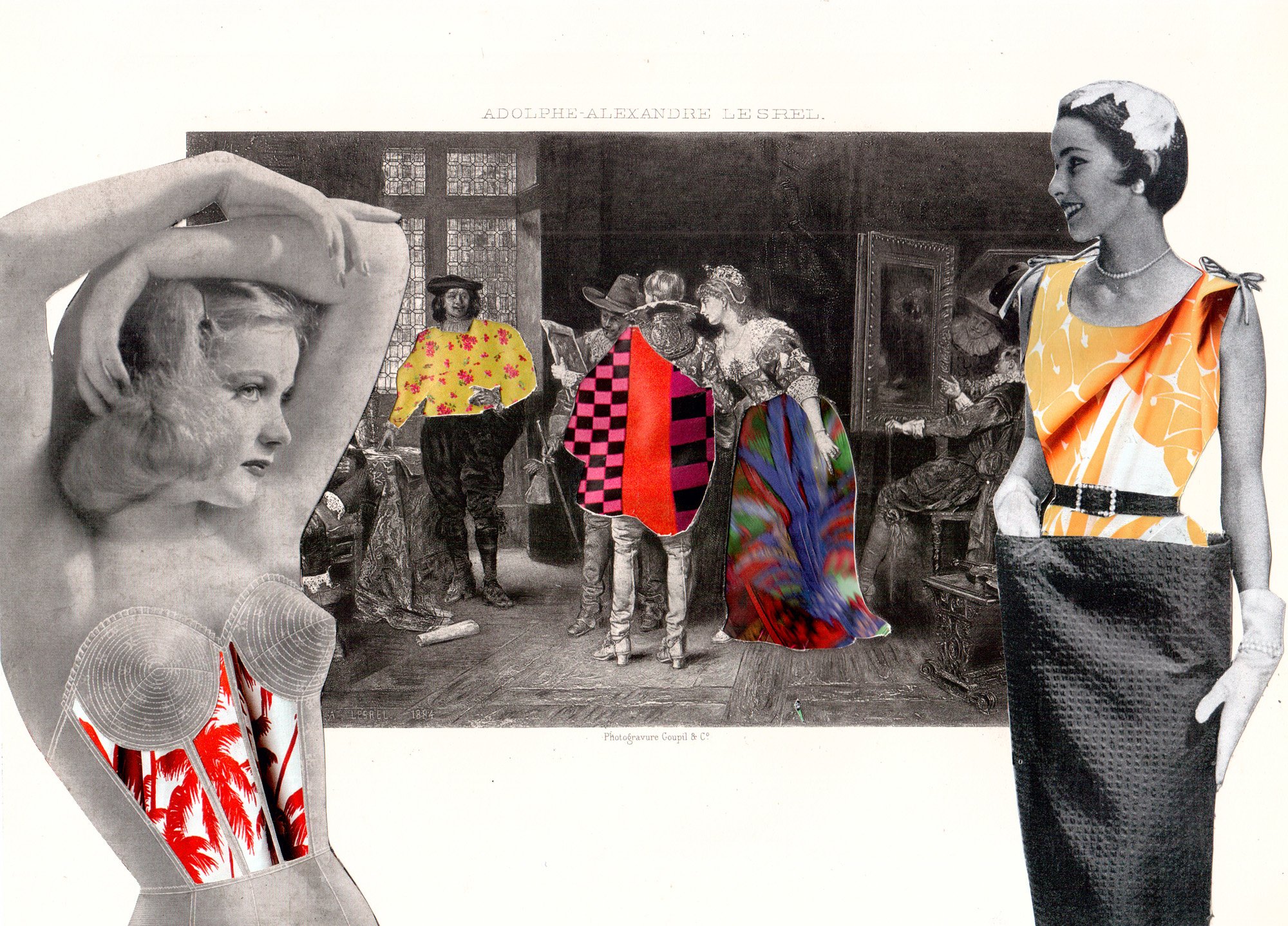 sabine remy  miriskum  collage artist  collage blog  collaboration lynn skordal