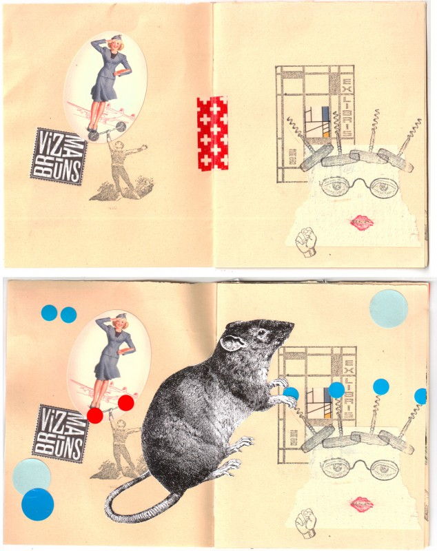 1. double page before and after - Collaborative booklet by Vizma Bruns and Sabine Remy