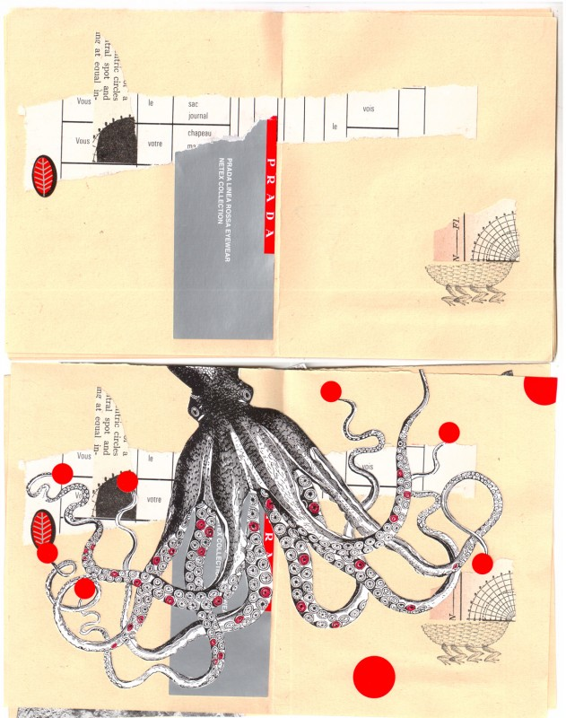 3. double page before and after - Collaborative booklet by Vizma Bruns and Sabine Remy