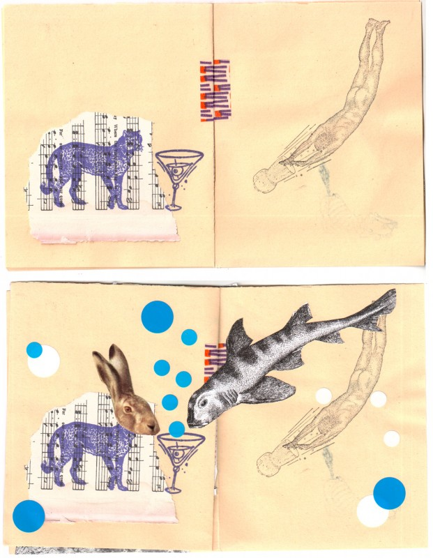 4. double page before and after - Collaborative booklet by Vizma Bruns and Sabine Remy