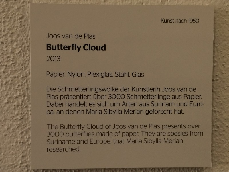 Butterfy Cloud by Joos van de Plas 2013 Infotafel