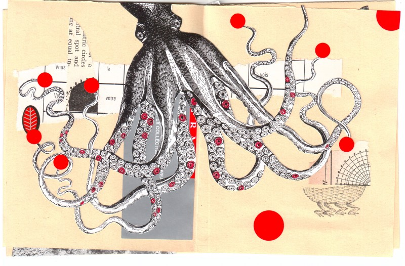 3. double page - Collaborative booklet by Vizma Bruns and Sabine Remy
