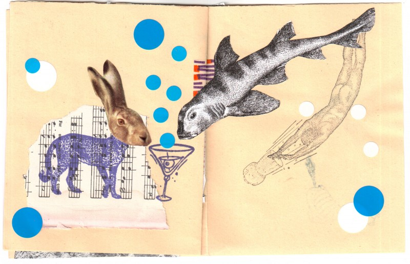4. double page - Collaborative booklet by Vizma Bruns and Sabine Remy