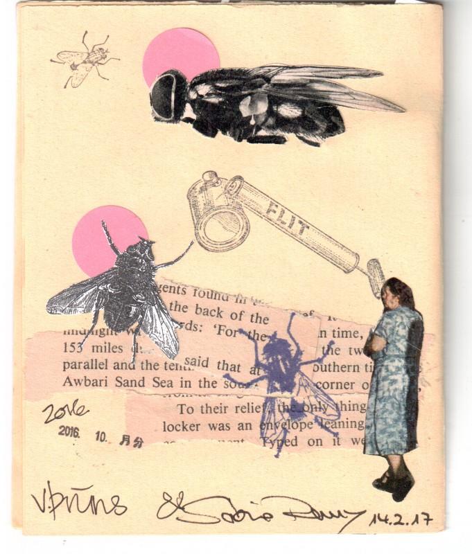 Back page - Collaborative booklet by Vizma Bruns and Sabine Remy
