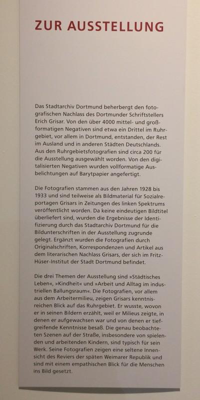 Zeche Zollern Dortmund  - Ausstellung Erich Grisar - Zur Ausstellung - About the Exhibition
