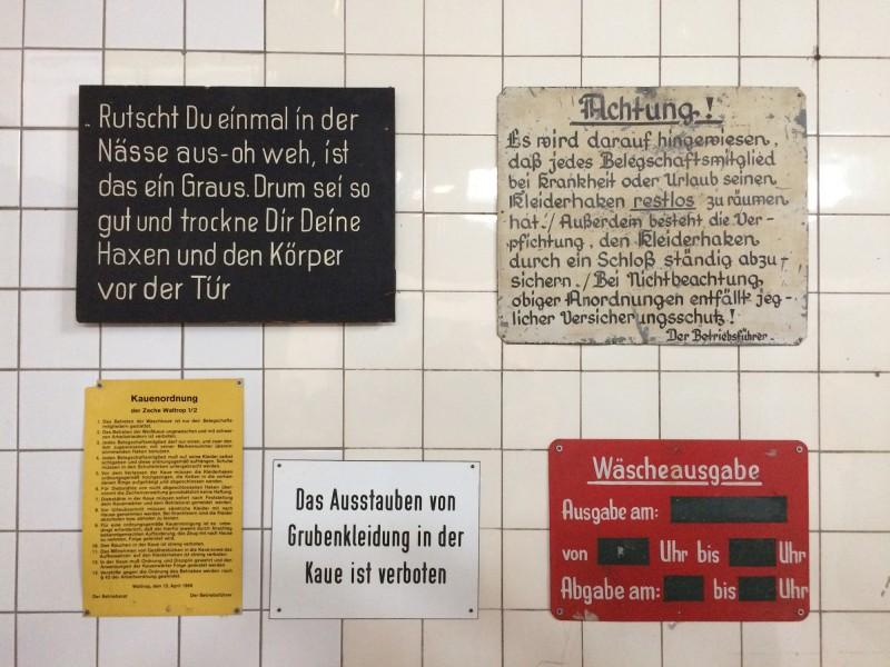 Zeche Zollern Dortmund - Hinweisschilder - Information signs