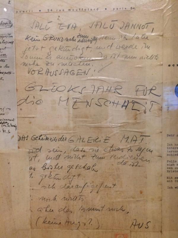 Daniel Spoerri - (Detail of) Door ot the Eat Art Gallery of the Restaurant Spoerri (Düsseldorf), 1968 - in: kunst ins leben ! - Der Sammler Wolfgang Hahn und die 60er Jahre - im Museum Ludwig