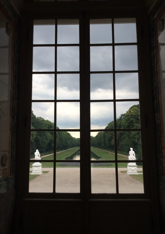 Schloss Benrath - Blick auf den Spiegelweiher
