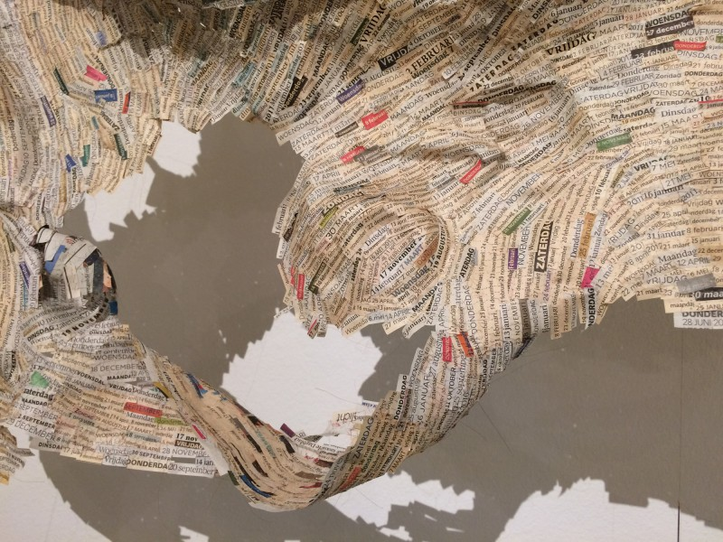 Vienna Romanée - Data sewing - 2011- Detail - at CODA  Museum Paper Art 2017