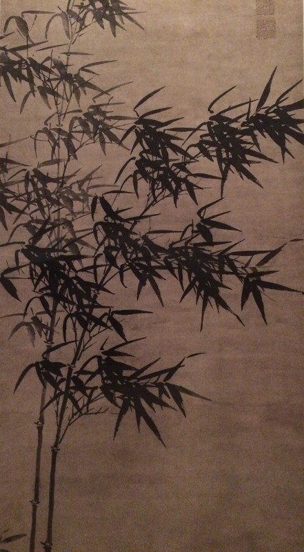 Bamboo In WInd - by Xia Chang (1388-1470) - Hanging Scroll - Ming Dynasty
