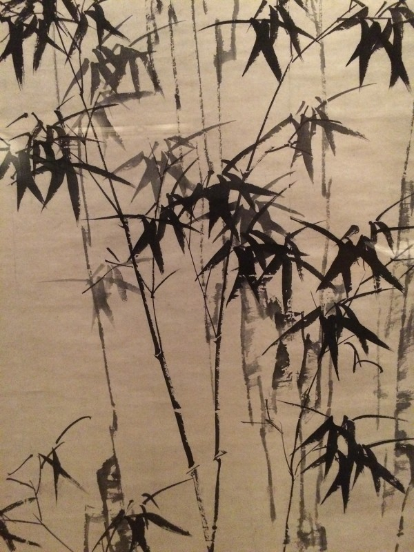 Bamboo and Rock (Detail) - by Zheng Xie (1693-1765) - Hanging Scroll - Qing Dynasty