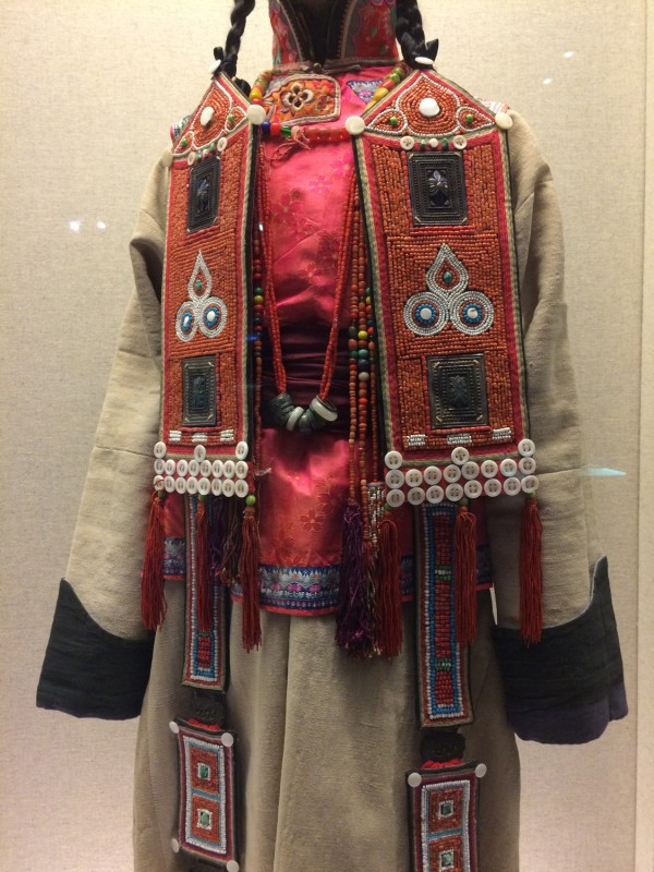 Ceremonial dress (Detail) - Yugur - Zhanye, Gansu - The 1st half of the 20th century