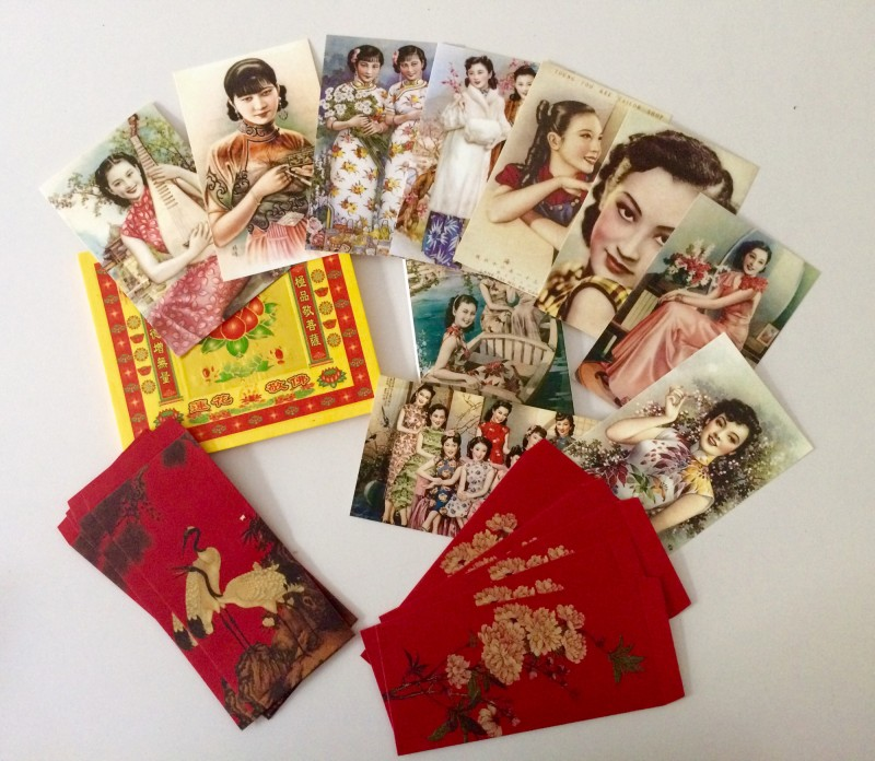 Postcards, envelops, sacrifice paper / Postkarten, Briefumschläge, Opferpapier