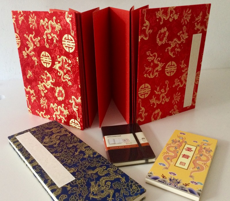 Chinese accordion books / Chinesische Leporello-Bücher