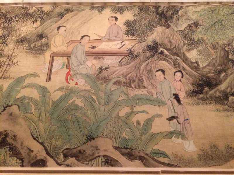 Female Disciples of Sui Yuan (Detail) - by You Zhao and Wang Gong (18.-19. century) - Handscroll - QIng Dynasty
