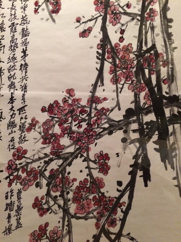 Red Plum Blossoms by Wu Changshuo (1844-1927) - Hanging Scroll - Qing Dynasty