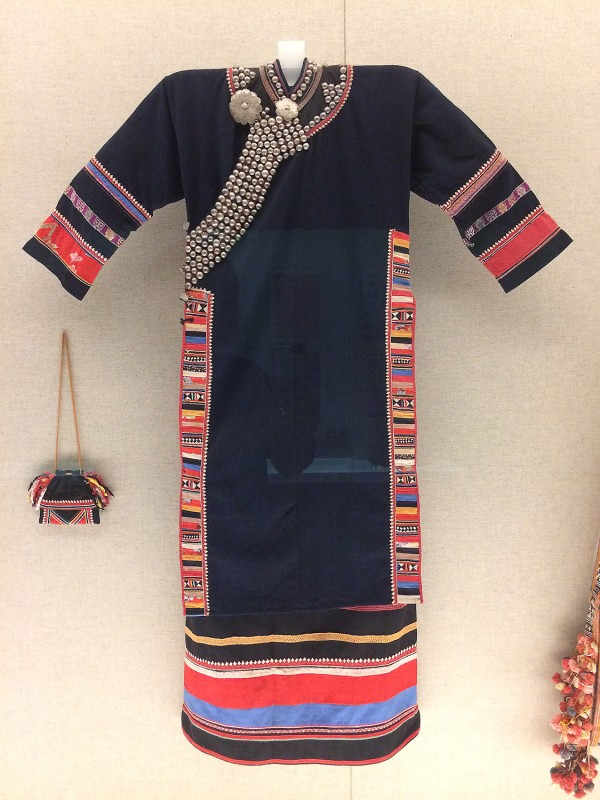 Woman´s garment with applique design and silver adornments - Lahu - Lancang, Yunnan, The 2nd half of the 20th century
