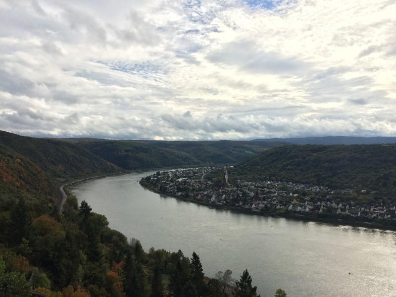 Blick auf den Rhein von der Marksbrug<br>View on the Rhine from Marksburg