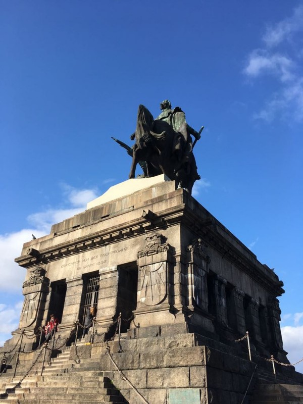 Deutsches Eck in Koblenz mit Kaiser Wilhelm Denkmal<br>Deutsches Eck / German Corner in Coblenz with equestrian statue of Emperor Wilhlem 2