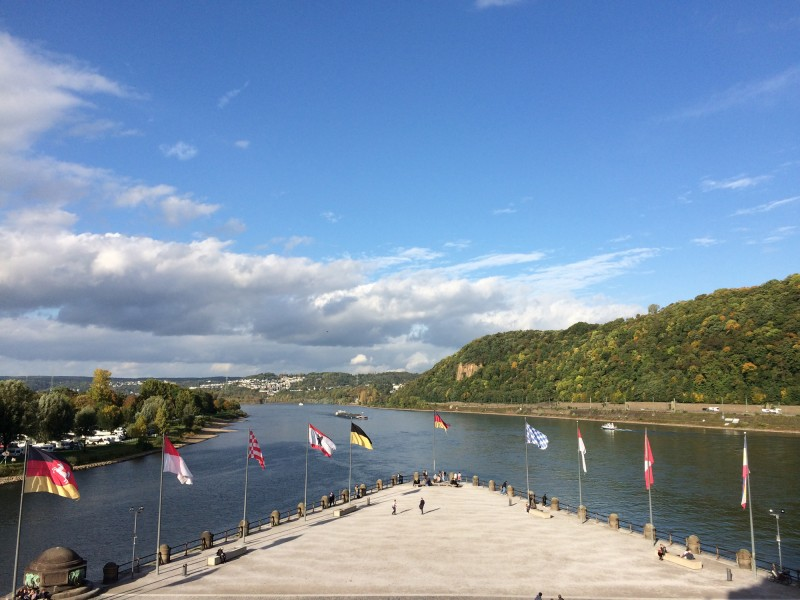 Deutsches Eck - wo Rhein und Mosel zusammen treffen<br>Deutsches Eck /German Corner where Rhine and Mosel meet