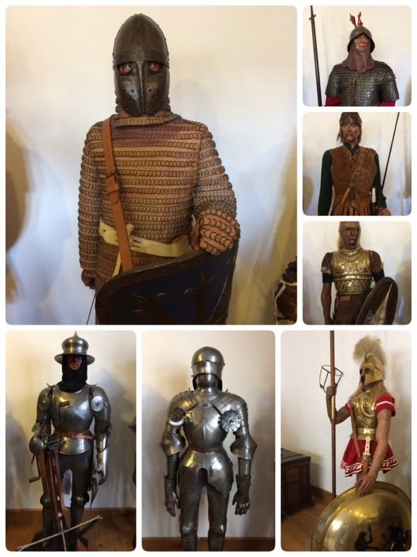 Ritterrüstungen aus der Zeit von 600 v.Chr. bis Mitte des 15. Jhd.<br>Armaments form 600 BC till mid of 15th century