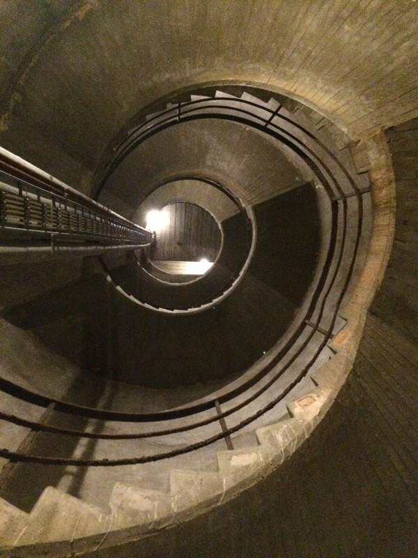 Lüftungsschacht im Bundesbank Bunker<br>Ventilation shaft