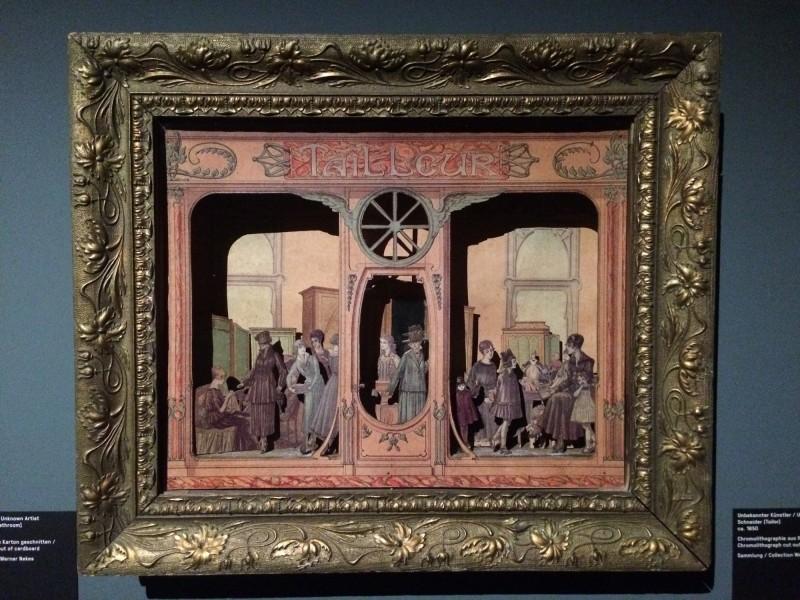 Schneider - unbek. Kuenstler - Chromolithographie aus Karton geschnitten - ca. 1850 - Tailor - artist unknown - Chromolitograph cut out of cardboard
