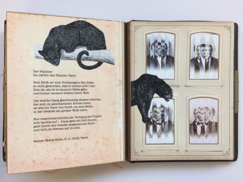 Ein Buch über des Lebens Leid und Freud auf dem Weg zu dem unendlichen Ziel<br>11. Doppelseite<br>A book about life's sorrow and joy on the way to the endless aim<br>11. double page -