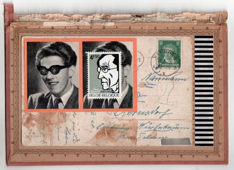 An Herrn Naumann - Collage on board - 12,3 x 18,1 cm -2018