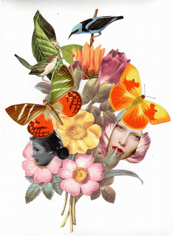 Bouquet 3 for Collage Garden NYC - Open Air Exhibition - aprox DinA 4