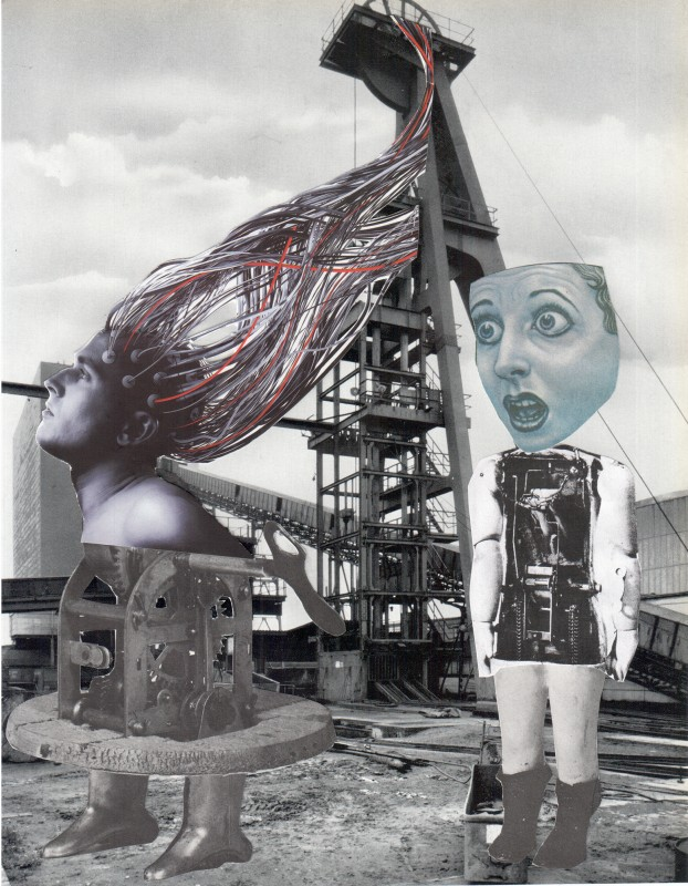 Exciting Trip to The Industrial Museum / Aufregender Ausflug ins Industriemusueum  - Collage - 24,3 x 18,9 cm - 2018