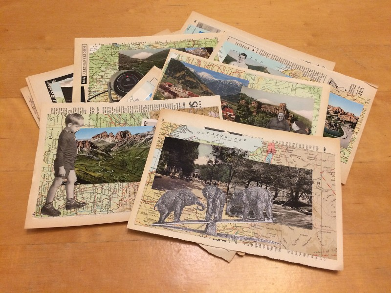 Greetigs from ... 11 collages for Mail Art 2018