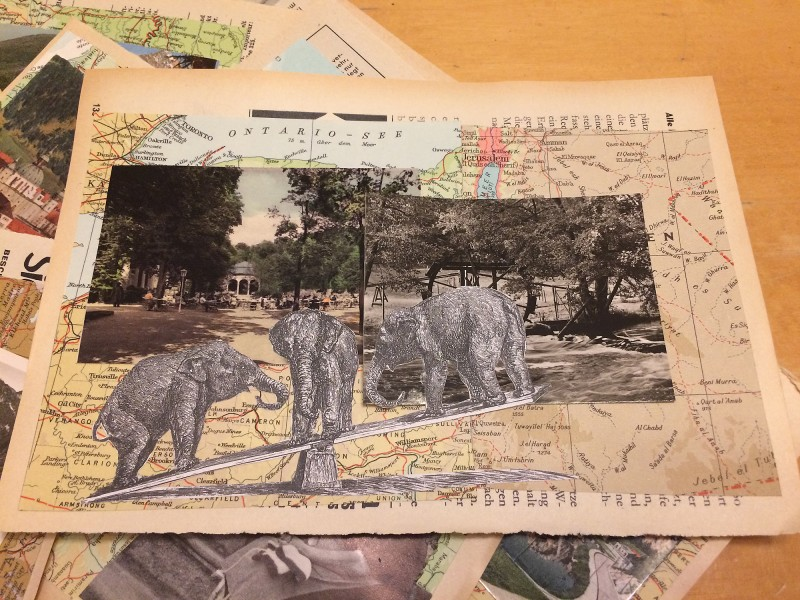 Greetings from - 11 Collages for Mail Art - 2018