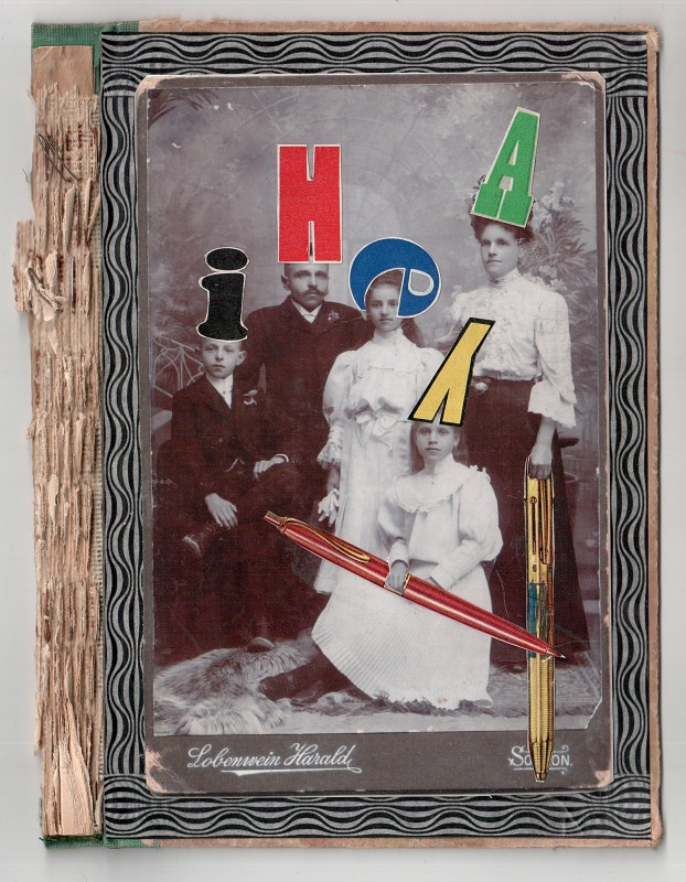 Kofbedeckung einer Schriftstellerfamilie - Head gear of a writer s family - 2018 - 19 x 14,5 cm