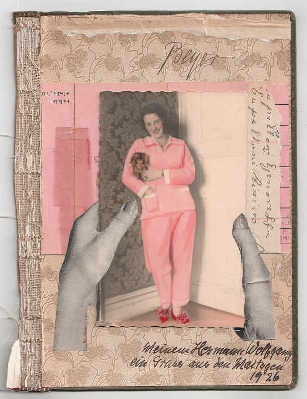 Meinem Hermann Wolfgang / To my Hermann Wolfgang-  Collage on board – 2018 – 22,1 x 16,6 cm