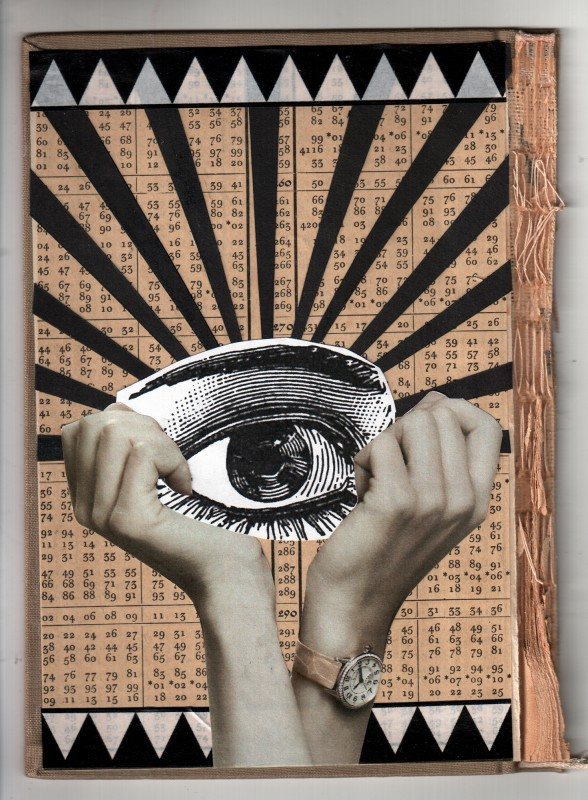 The sight - The eyes - Collage on board - 2018 - 18,7 x 13,2 cm