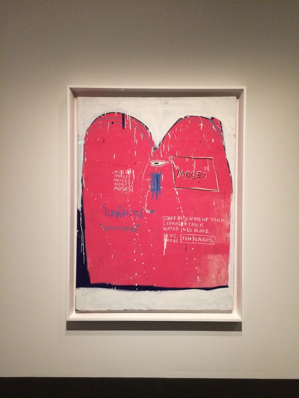 Basquiat Moses and teh Egyptians1982 at Schirn FFM Boom for real