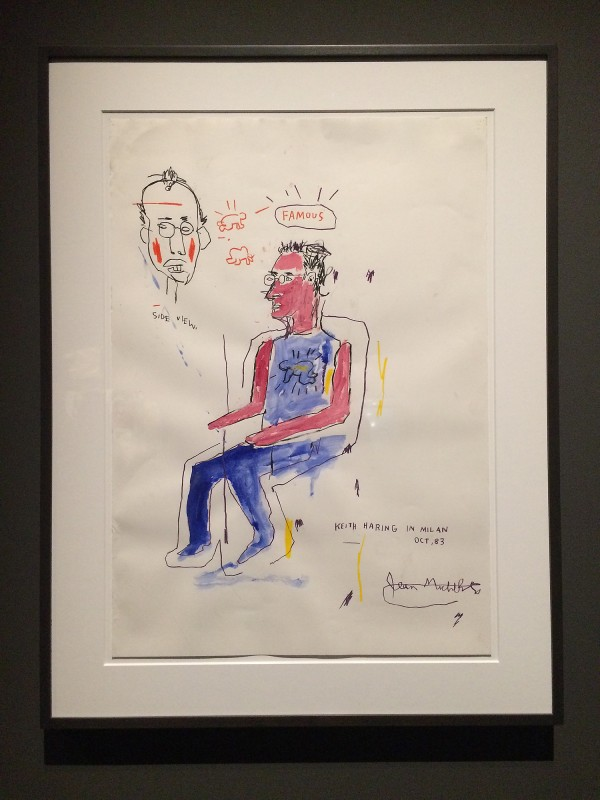 Basquiat Sketch of Keith Haring 1983 at Schirn FFM Boom for real