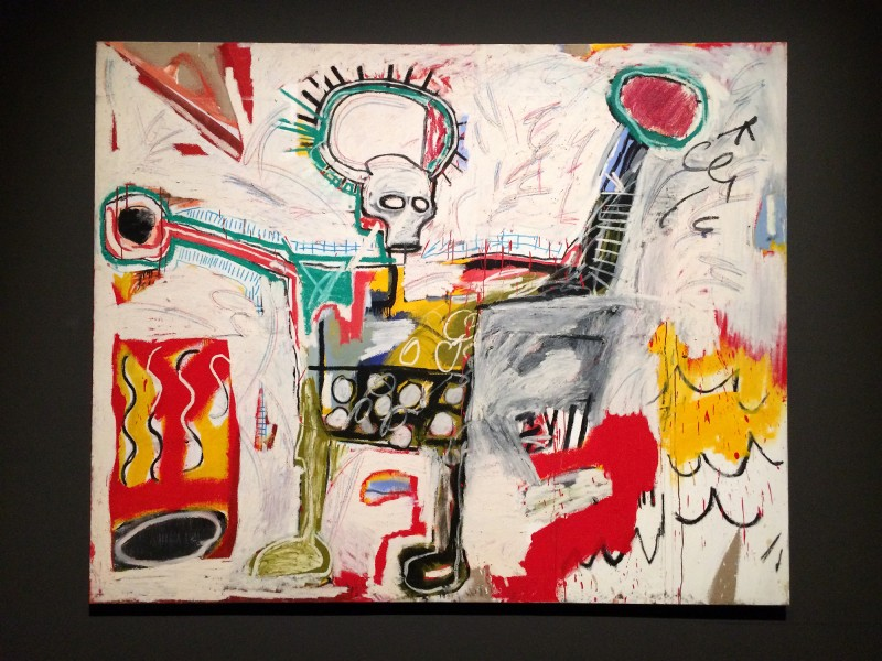 Basquiat Untitled (Black) 1982 at Schirn FFM Boom for real