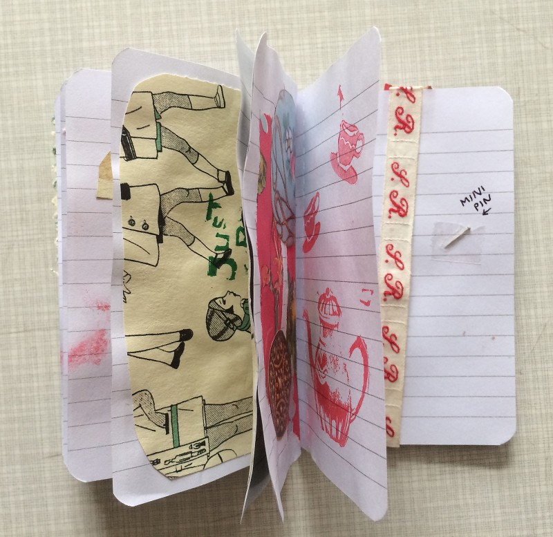 Incoming Mail Art from Reina Huges April 2018 - A littel booky