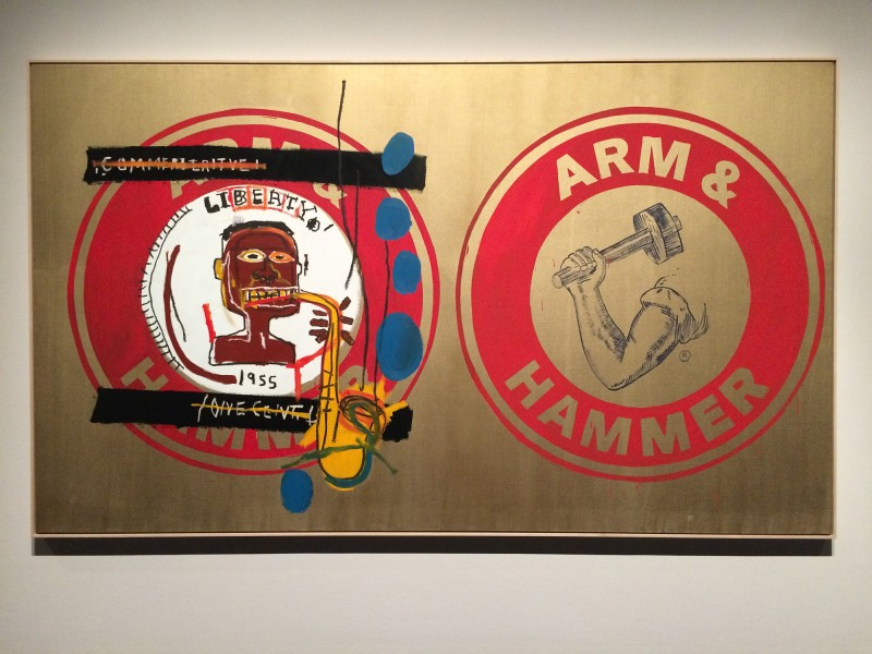 Jean-Michel Basquiat und Andy Warhol - Arm and Hammer II 1984 at Schirn FFM Boom for real