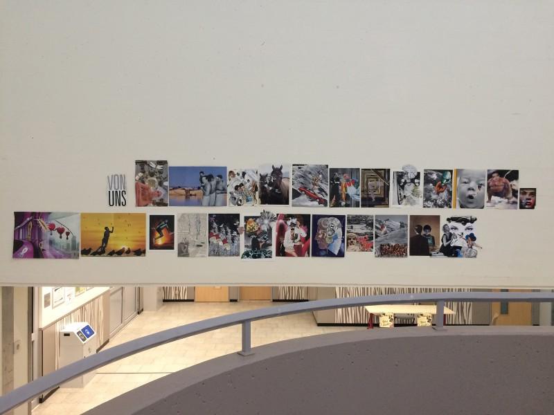 Kunstinstallation der Galerie-511-Mitglieder